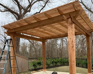 freestanding cedar pergola clear lake tx