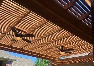 Freestanding Cedar Pergola Kingwood TX