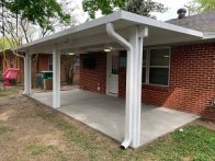 White Patio Cover Missouri City TX